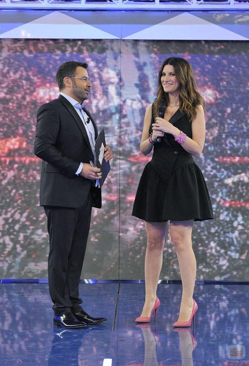 Jorge Javier Vázquez y Laura Pausini