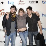 Alfonso Bassave, Marta Larralde y Llorenç González en la premiere de 'Gran Reserva'