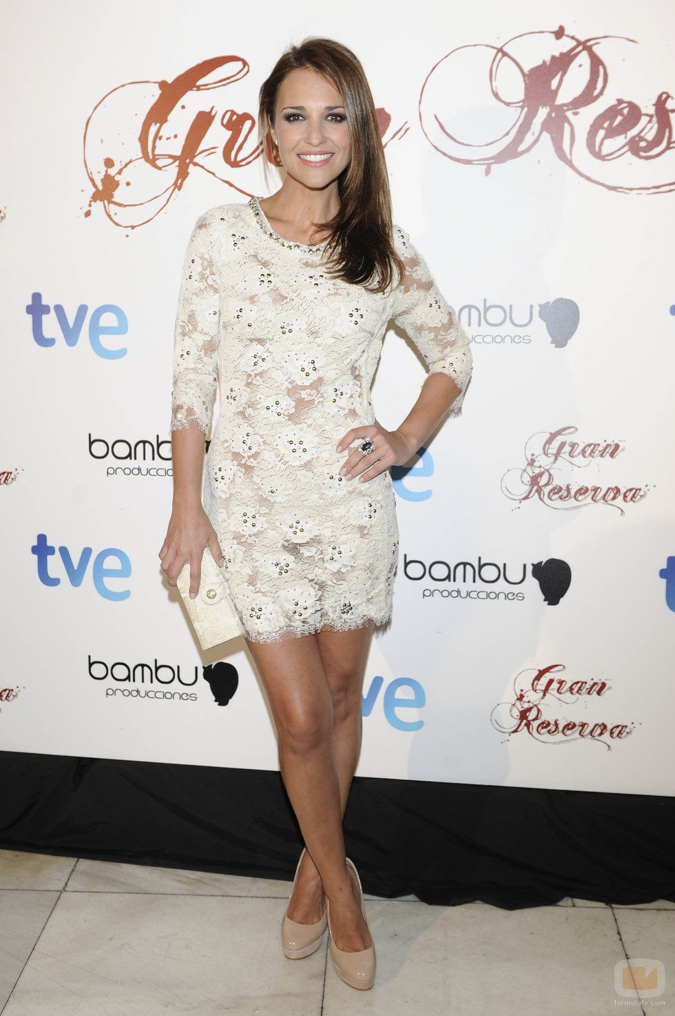 Paula Echeverría en la premiere de la tercera temporada de 'Gran Reserva'
