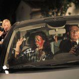 Patricia Vico con la cara pintada en una escena de la TV Movie 'Carmina'