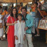 Carmina Ordoñez, Julián Contreras y su hijo en Marruecos