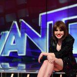 Angy Fernández sentada en el plató de 'Avanti'