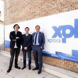 Presentación de Xplora con Floréz, Fernanbuco y Contreras