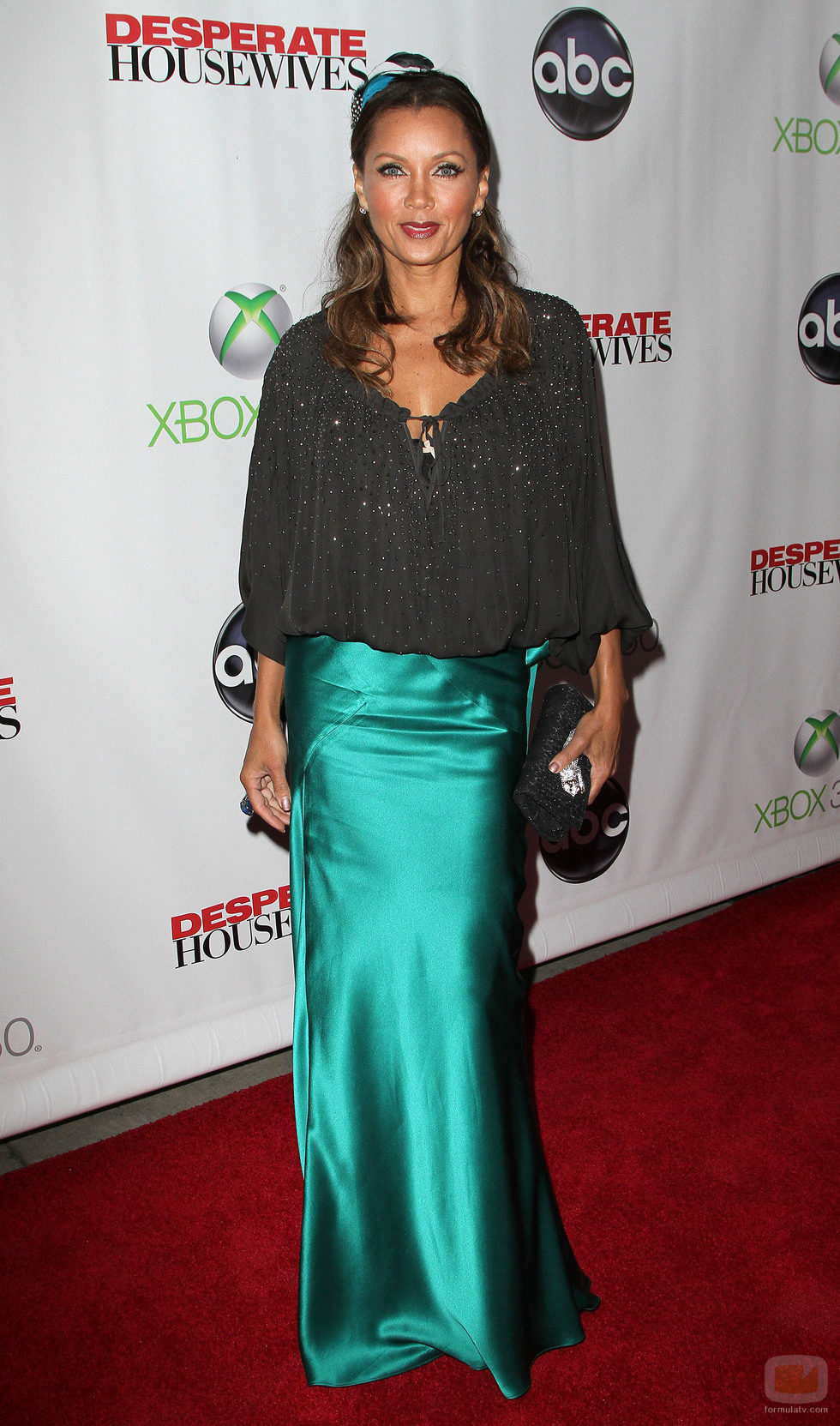 Vanessa Williams en la fiesta final de 'Mujeres desesperadas'