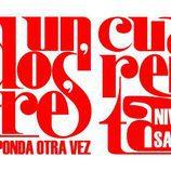 Logotipo original del 'Un, dos tres...' junto al de su 40º aniversario