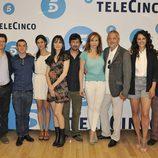 Los actores de 'Hospital Central' posan en la presentación de la temporada 20 de la serie