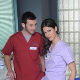 Luis Castro y Nani Jiménez en la temporada 20 de 'Hospital Central'