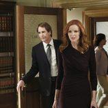 Bree Van de Kamp y Trip Weston en el juzgado en el último episodio de 'Mujeres Desesperadas'