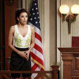 Gabrielle Solis (Eva Longoria) interrogada en el juicio de Bree en el último capítulo de 'Mujeres Desesperadas'