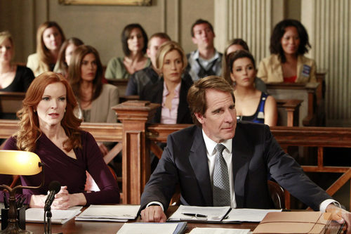 Bree Van de Kamp, sorprendida en su juicio en el último episodio de 'Mujeres Desesperadas'