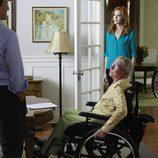 Karen McCluskey en una silla de ruedas en el último capítulo de 'Mujeres Desesperadas'