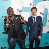 Randy Jackson y Ryan Seacrest en los Upfronts de Fox