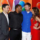 Jesse Bradford, Anthony Anderson, Zach Cregger y Jamie-Lynn Sigler en los Upfronts 2012 de NBC