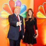 Donald J. Trump y Melania Trump en los Upfronts 2012 de NBC