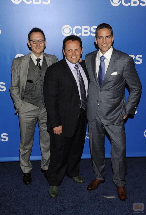 Michael Emerson, Kevin Chapman y Jim Caviezel en los Upfronts 2012 de CBS