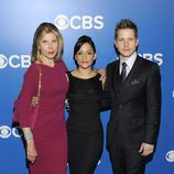 Christine Baranski, Archie Panjabi y Matt Czuchry en los Upfronts 2012 de CBS