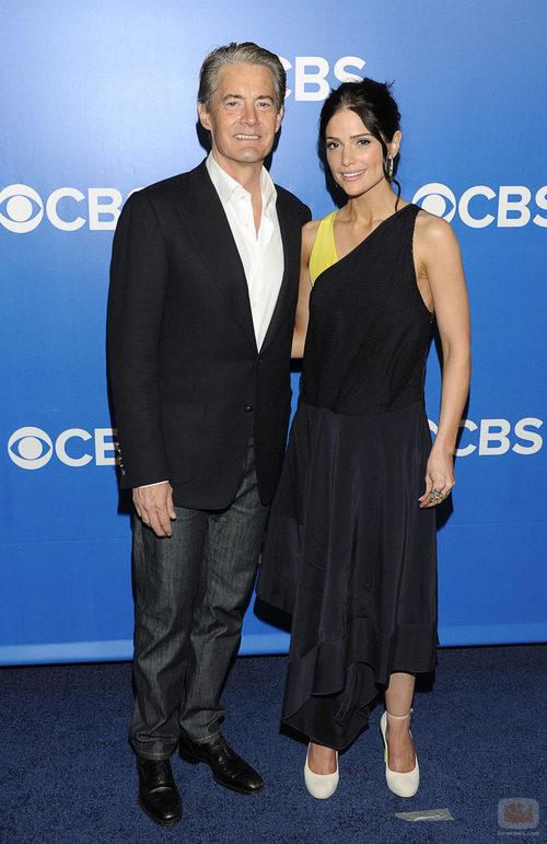 Kyle MacLachlan y Janet Montgomery de 'Made in Jersey' en los Upfronts de CBS
