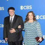 Billy Gardell y Melissa McCarthy en los Upfronts 2012 de CBS