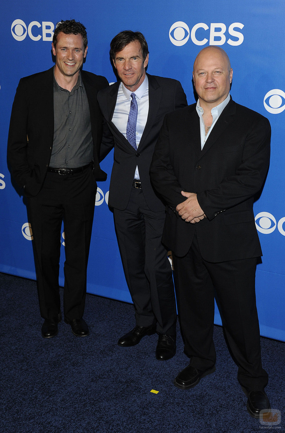 Jason O'Mara, Dennis Quaid y Michael Chiklis en los Upfronts 2012 de CBS