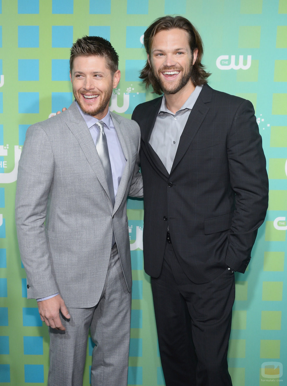 Jensen Ackles y Jared Padalecki de 'Supernatural' en los Upfronts 2012 de The CW