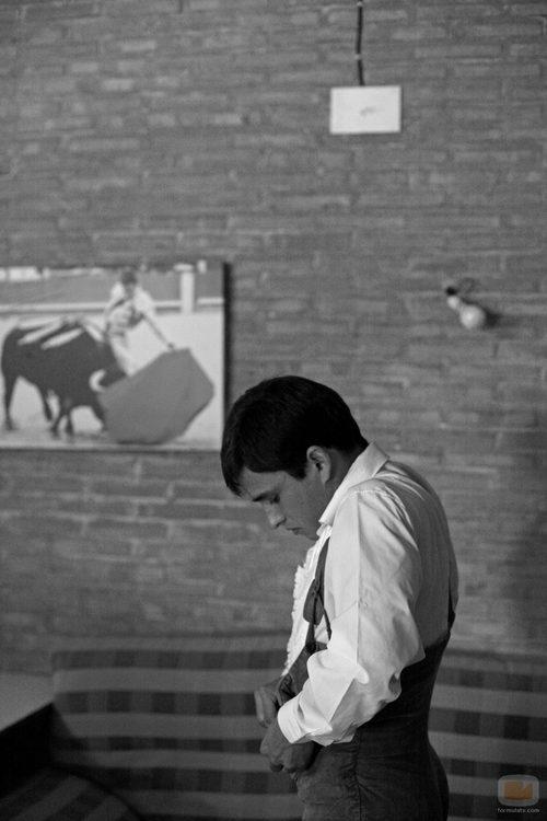 El torero se viste para la actuación