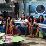 Los concursantes de 'Gran Hermano 12+1' muestran sus números para ser votados