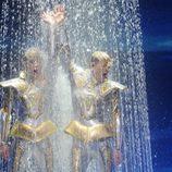 Jedward mojados en Eurovisión 2012