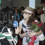 Pastora Soler atiende a TVE en su regreso de Eurovisión 2012