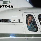 Pepe Flores en el helicóptero del ganador de 'Gran Hermano 12+1'