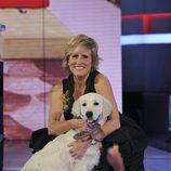 Mercedes Milá y la perra Torso en la final de 'Gran Hermano 12+1'