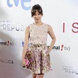 La actriz Verónica Sánchez en el estreno de 'Isabel' y lo nuevo de '14 de abril. La República'