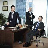 Mark-Paul Gosselaar, Malcolm McDowell y Breckin Meyer en 'Franklin & Bash'