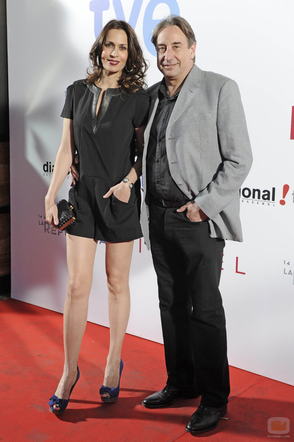 Lola Marceli y Juanjo Puigcorbé en la premier de '14 de abril. La República' e 'Isabel'