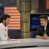 Pablo Motos y Justin Bieber se ríen en 'El hormiguero'