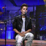 Justin Bieber canta durante su visita a 'El hormiguero'
