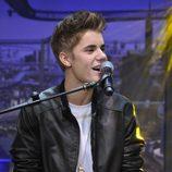 Justin Bieber en plena actuación en el programa de Pablo Motos