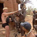 Juan Carlos de 'Perdidos en la tribu' con el pelo rapado