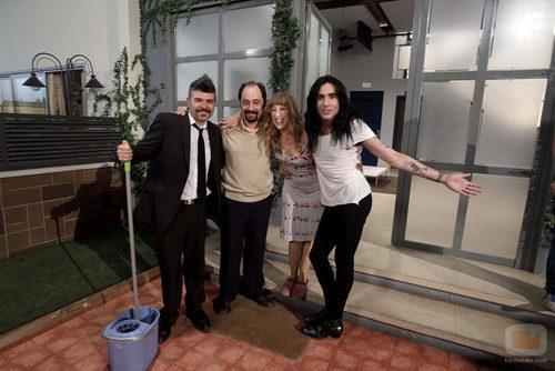 Nacho Guerreros, Jordi Sánchez, Nathalie Seseña y Mario Vaquerizo