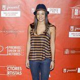 Elisa Mouliaá en la alfombra roja de los Premios de la Unión de Actores
