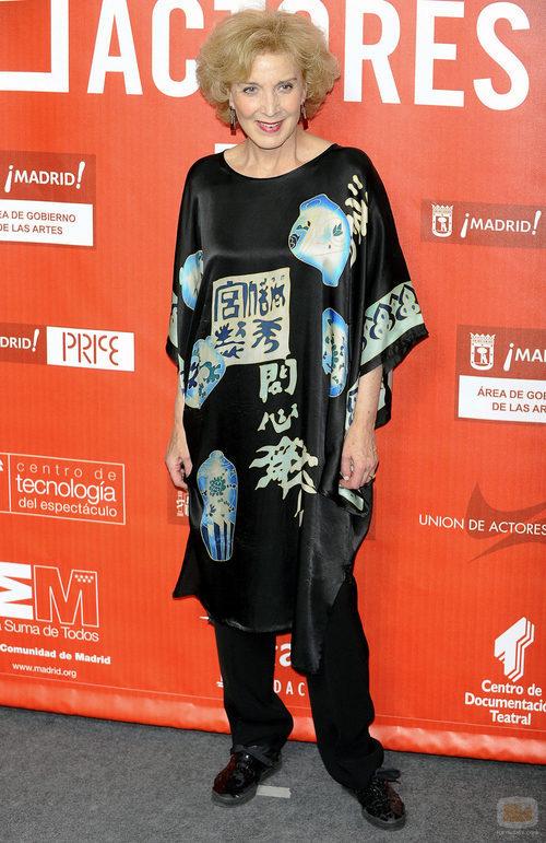 Marisa Paredes en los Premios de la Unión de Actores 2012