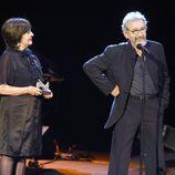 José Sacristán y Concha Velasco en la gala de la Unión de Actores 2012