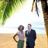 Poole y Bordey en la playa