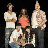 Los cinco actores principales de la nueva serie de Telecinco, 'Dreamland'
