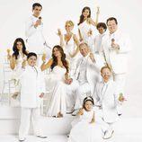 Foto promocional de la tercera temporada de 'Modern Family' comiendo helado