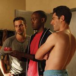 Lamorne Morris, Max Greenfield y Jake Johnston, los protagonistas masculinos de 'New Girl'
