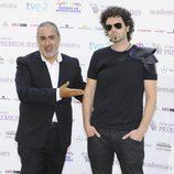 Jorge Salvador y Pablo Ibáñez Pérez en los Premios Iris 2012