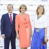 Manuel Campo Vidal, Laura Valenzuela y María Rey en los Iris 2012