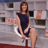 Sandra Daviú, en el plató de 'Espejo público de verano'