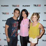 Hector Davis Jr., Erica Fahn y Brittany Anne Pirtle en la Comic-Con 2012
