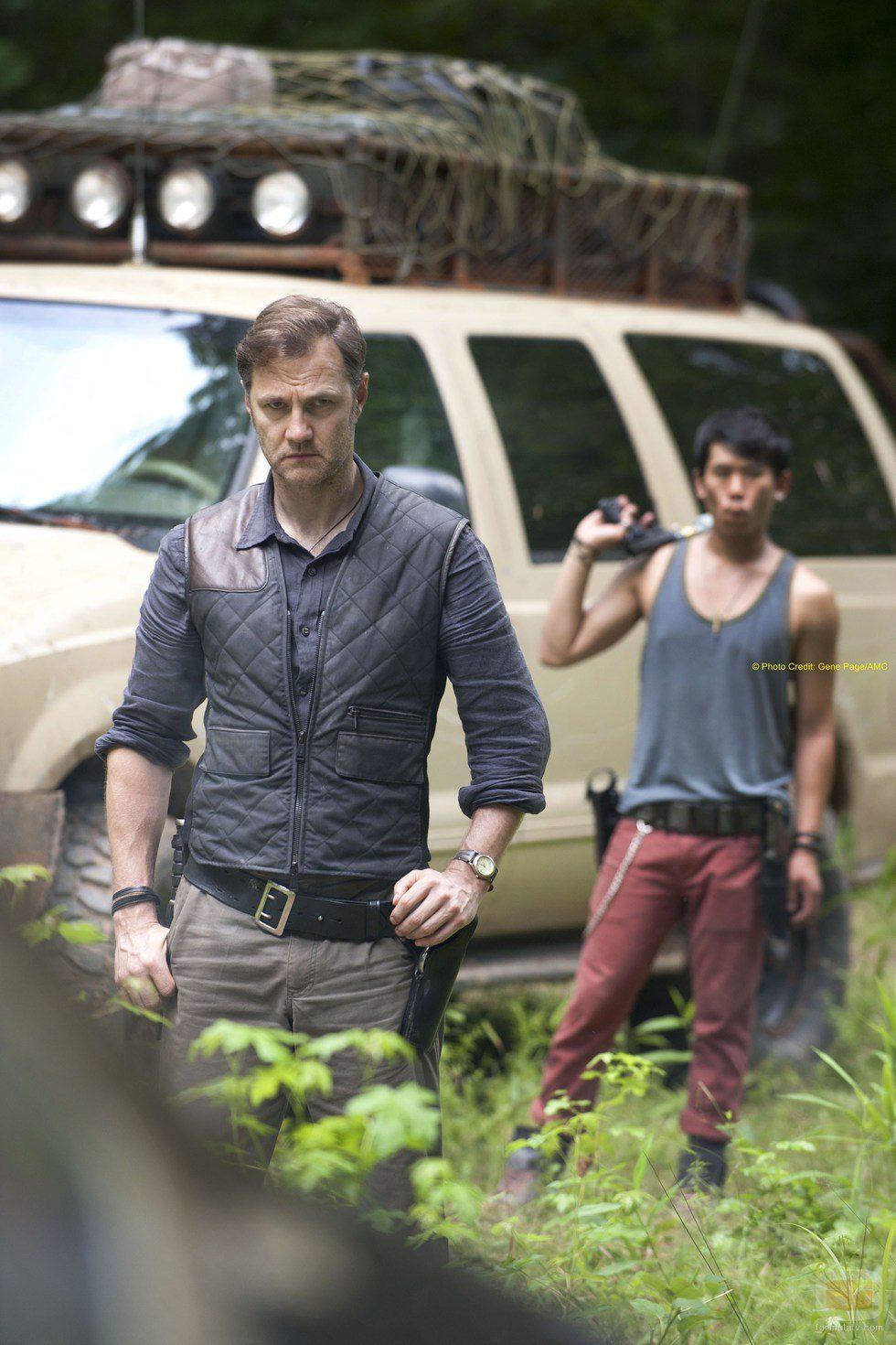 El gobernador de 'The Walking Dead', en una escena de la tercera temporada